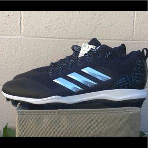 New adidas power alley baseball cleats navy blue